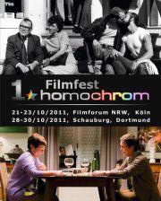Poster Plakat des 1. Filmfest homochrom in Köln/Cologne und Dortmund, 2011