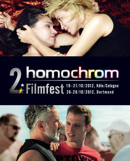 Poster Plakat des 2. Filmfest homochrom in Köln/Cologne und Dortmund, 2012