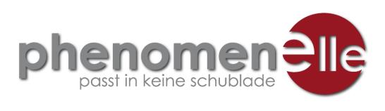 Logo phenomenelle, passt in keine Schublade