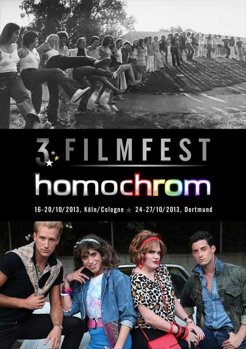 Poster Plakat des 3. Filmfest homochrom in Köln/Cologne und Dortmund, 2013
