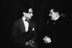 Filmstill ANDERS ALS DIE ANDERN, Magnus Hirschfeld und Conrad Veidt