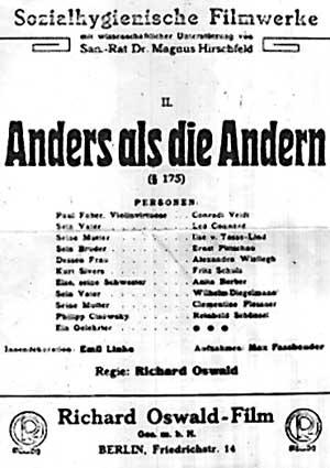 Poster ANDERS ALS DIE ANDERN