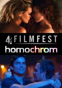 Poster Plakat des 4. Filmfest homochrom in Köln/Cologne und Dortmund, 2014