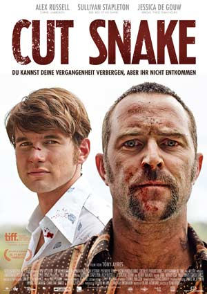 Poster CUT SNAKE, von Tony Ayres, mit Sullivan Stapleton, Alex Russell, Jessica de Gouw