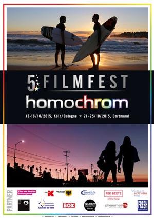 Poster Plakat des 5. Filmfest homochrom in Köln/Cologne und Dortmund, 2015