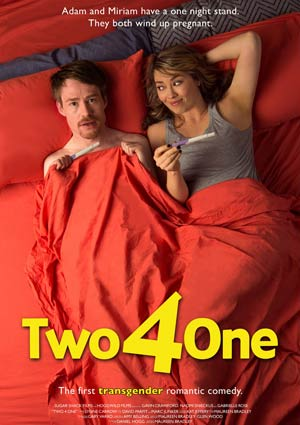 Filmposter TWO 4 ONE, Film von Maureen Bradley, Transgender-Komödie
