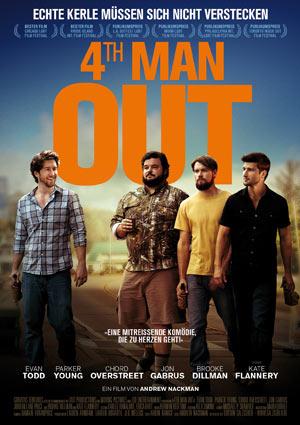 Film Still 4TH MAN OUT von Andrew Nackman mit Evan Todd, Jon Gabrus, Parker Young und Chord Overstreet