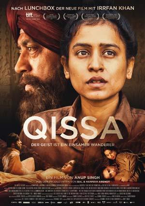 Film Poster QISSA – DER GEIST IST EIN EINSAMER WANDERER von Anup Singh mit Irrfan Khan, Tisca Chopra und Tillotama Shome