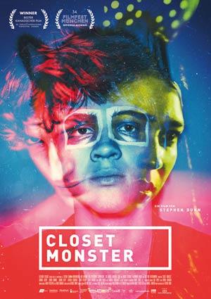 Film Poster CLOSET MONSTER von Stephen Dunn mit Connor Jessup, Aaron Abrams, Aliocha Schneider und Isabella Rossellini