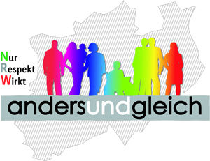 Logo der Kampagne anders und gleich - Nur Respekt Wirkt NRW