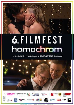 Poster Plakat 6. Filmfest homochrom in Köln/Cologne und Dortmund, 2016
