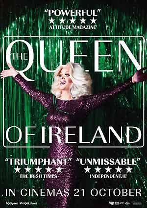 Film Poster THE QUEEN OF IRELAND von Conor Horgan über die irische Drag-Queen Panti Bliss alias Rory O'Neill