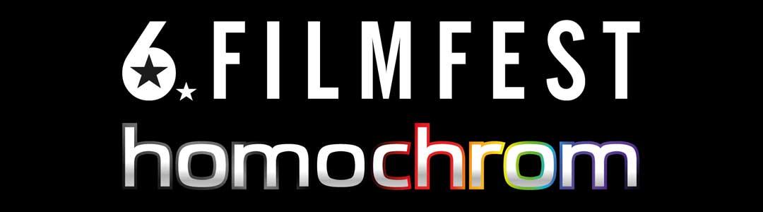 Schriftzug des 6. Filmfests homochrom vom 11.-16.10.2016 in Köln und vom 20.-23.10.2016 in Dortmund