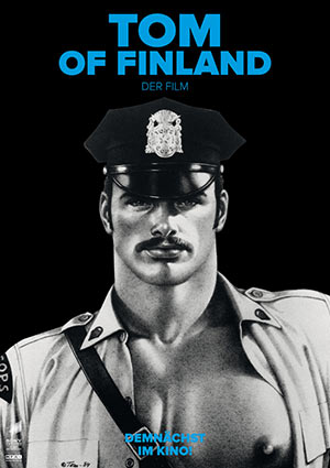 Film Poster TOM OF FINLAND von Dome Karukoski mit Jakob Oftebro, Werner Daehn und Pekka Strang