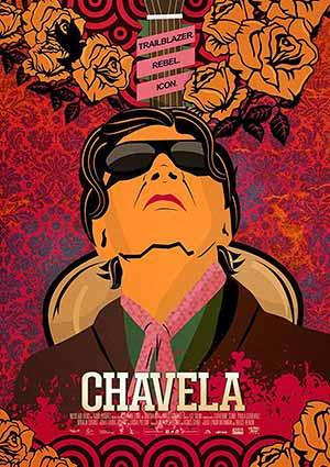 Film Poster CHAVELA von Catherine Gund und Daresha Kyi über die lateinamerikanische Ranchera-Sängerin Chavela Vargas mit Pedro Almodóvar