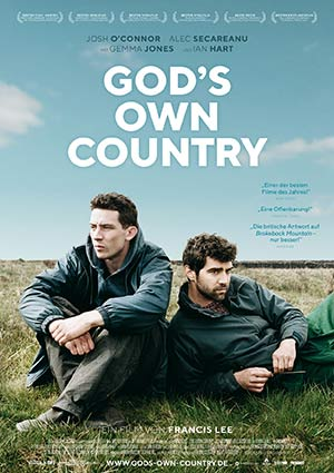 Film Poster GOD'S OWN COUNTRY von Francis Lee mit Gemma Jones, Ian Hart, Josh O'Connor und Alec Secareanu; Sundance und Berlinale 2017