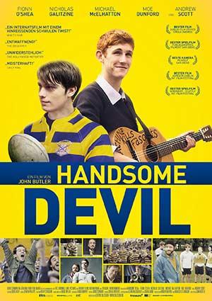 Film Poster HANDSOME DEVIL von John Butler mit Fionn O'Shea, Nicholas Galitzine, Ardal O'Hanlon, Amy Huberman