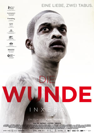 Film Poster DIE WUNDE - THE WOUND - INXEBA von Regisseur John Trengove mit Nakhane Touré, Niza Jay Ncoyini und Bongile Mantsai