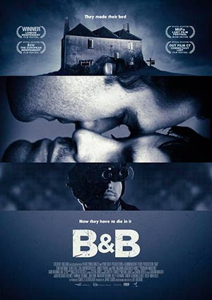 Film Poster B&B BnB von Joe Ahearne mit Paul McGann, Sean Teale, Tom Bateman, James Tratas und Callum Woodhouse