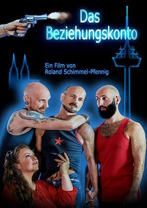 Film Still BEZIEHUNGSKONTO von Autor, Regisseur, Produzent, Komponist und Hauptdarsteller Roland Schimmel-Pfennig aus Köln; Blick auf die nächtliche Altstadt mit Rhein-Schiffen und Dom