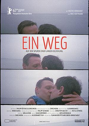 Film Poster EIN WEG - PATHS von Chris Miera; Abschlussfilm der Filmuniversität Babelsberg mit Mike Hoffmann und Mathis Reinhardt