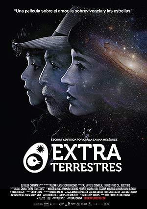 Film Poster EXTRA TERRESTRES – EXTRA TERRESTRIALS von Regisseurin Carla Cavina mit Sunshine Logroño, Marisé Alvarez und Elba Escobar; Puerto Rico und Venezuela 2017