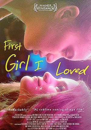"""Film Poster FIRST GIRL I LOVED von Kerem Sanga mit Brianna Hildebrand (""""Deadpool"""") und Dylan Gelula (""""Unbreakable Kimmy Schmidt"""")"""