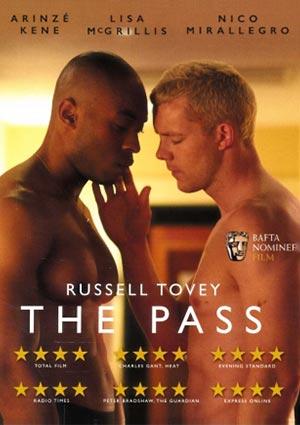 Film Poster THE PASS von Ben A. Williams mit  Russell Tovey, Arinzé Kene und Lisa McGrillis; britisches DVD-Motiv mit Pressestimmen