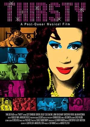 Film Poster THIRSTY von Margo Pelletier über Drag-Queen und Cher-Imitator Scott Townsend alias Thirsty Burlington mit Jonny Beauchamp