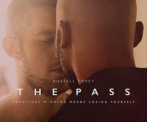 Film Poster THE PASS von Ben A. Williams mit  Russell Tovey, Arinzé Kene und Lisa McGrillis; alternatives Motiv mit zwei Männern, die sich fast küssen