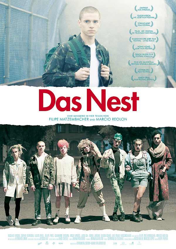 Film Poster DAS NEST - THE NEST - O NINHO von den beiden Teddy-Gewinnern Filipe Matzembacher & Marcio Reolon, eine queere Mini-Serie aus Brasilien