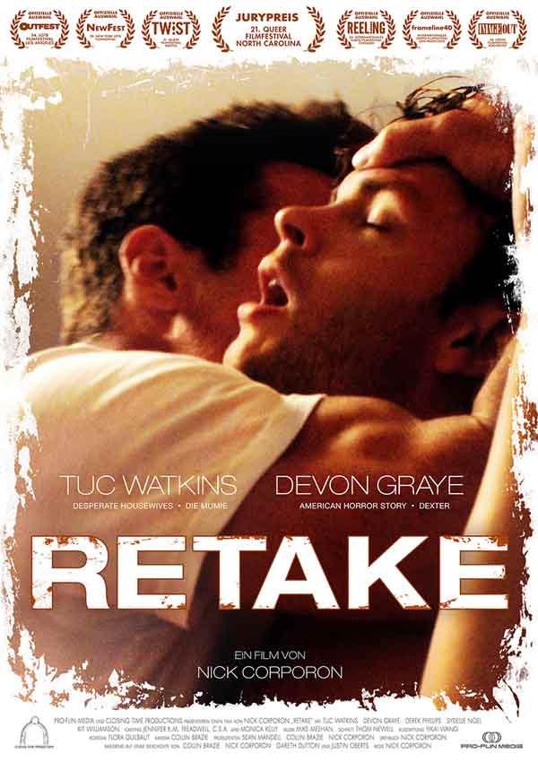 Film Poster RETAKE von Regisseur und Autor Nick Corporon mit Tuc Watkins, Devon Graye, Derek Phillips und Chris Pudlo