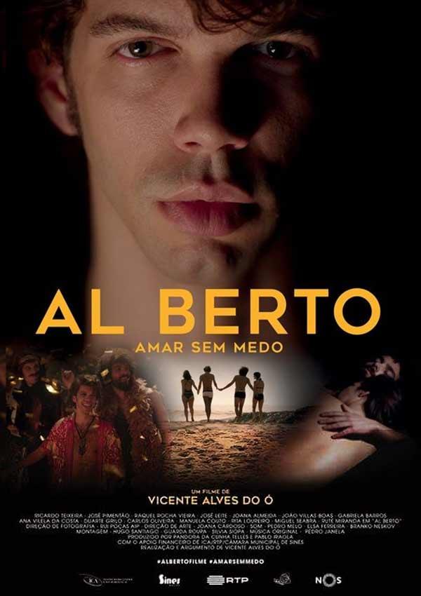 Film Poster AL BERTO von Regisseur und Autor Vicente Alves do Ó über den offen schwulen portugiesischen Dichter Alberto Raposo Pidwell Tavares mit Ricardo Teixeira und José Pimentão