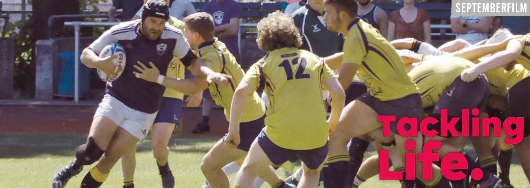 Film Slider TACKLING LIFE, ein Dokumentarfilm von Regisseur Johannes List über das schwule Rugby-Team Berlin Bruisers