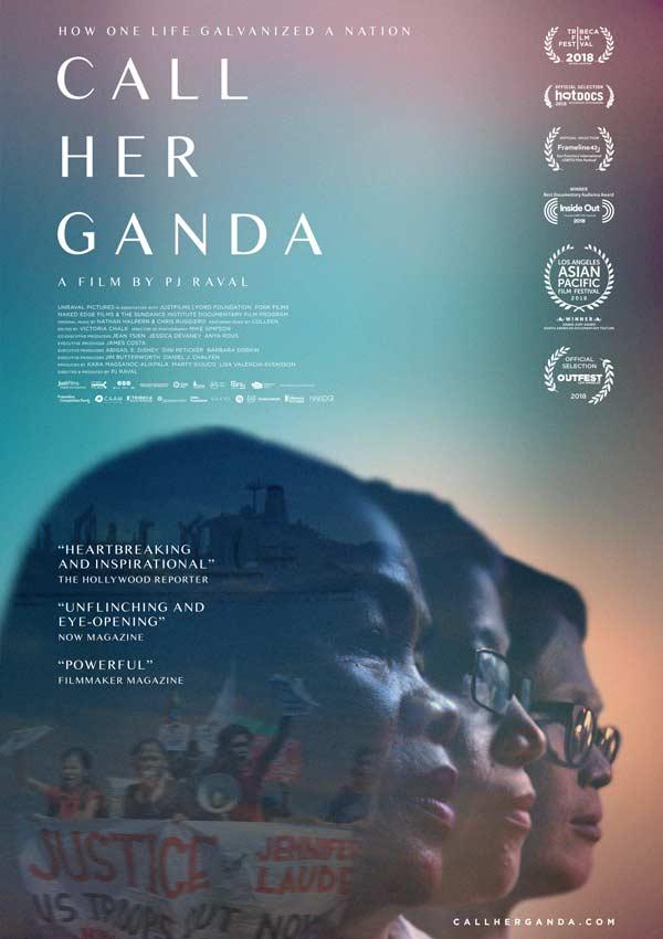 Film Poster CALL HER GANDA von Regisseur, Produzent und Ko-Autor PJ Raval aus USA und Philippinen, 2018, über den Mord an Transfrau Jennifer Laude durch einen US-Marine