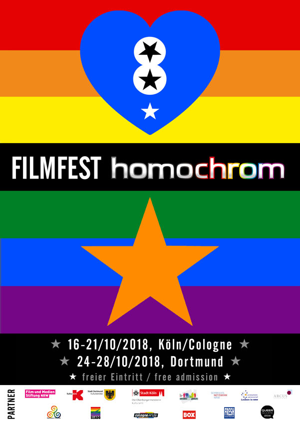 Poster des 8. Filmfests homochrom im Köln und Dortmund