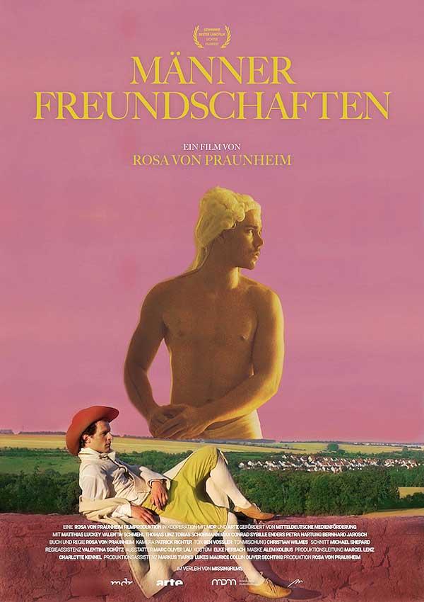 Film Poster MÄNNERFREUNDSCHAFTEN von Regisseur Rosa von Praunheim über die Freundschaften unter Weimarer Schriftstellern