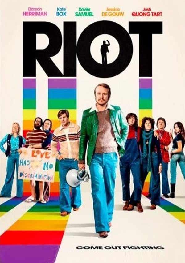 Film Poster RIOT von Regisseur Jeffrey Walker aus AUS, 2018, über Homo-Aufstände zum ersten Mardi Gras in Sydney, Australien