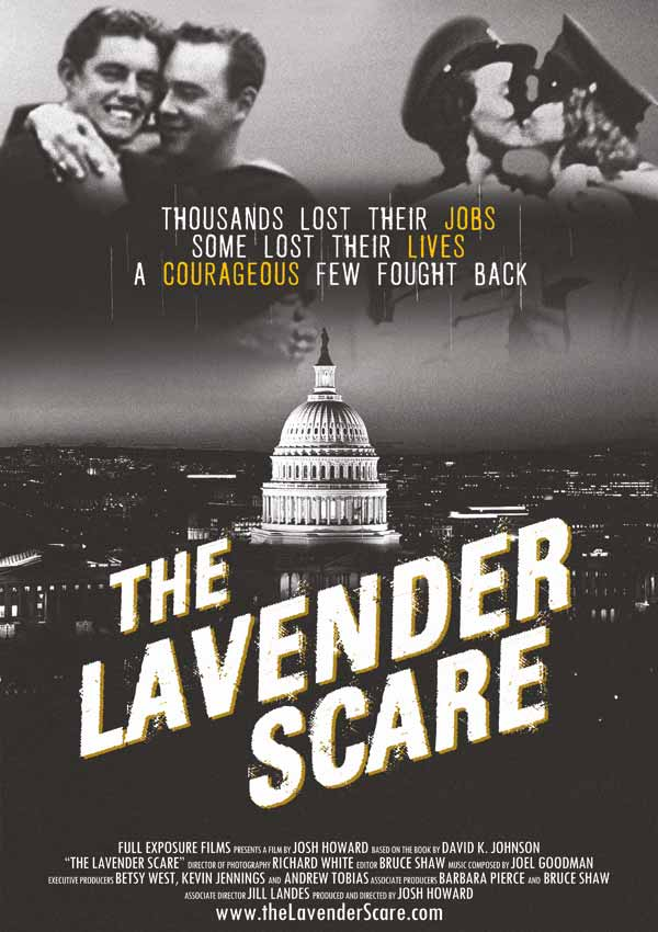 Film Poster THE LAVENDER SCARE von Debüt-Regisseur Josh Howard aus USA, langer Chromie 2018, Gewinner des Publikumspreises für Doku, winner of the audience award for documentary