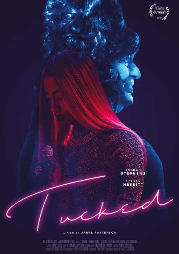 Film Poster TUCKED von Autor und Regisseur Jamie Patterson aus England, 2018, mit Derren Nesbitt und Jordan Stephens