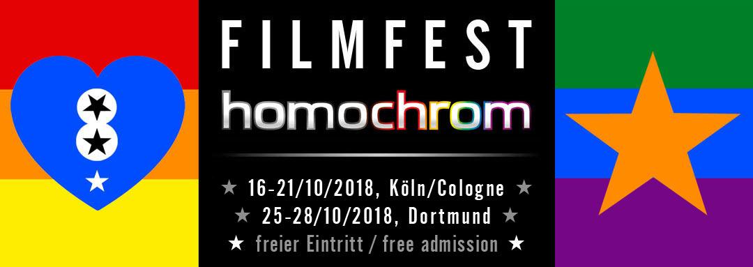 Logo des 8. Filmfest homochrom im Oktober 2018 in Köln und Dortmund, NRW, Deutschland, Cologne, Germany