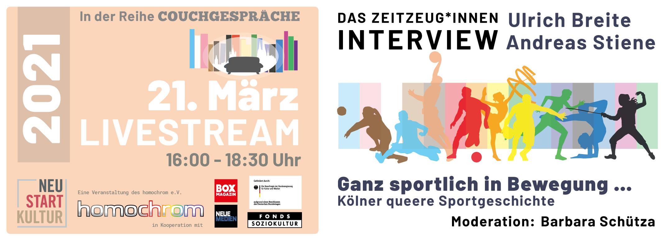 Couchgespräche März 2021 - Sportliche Bewegung