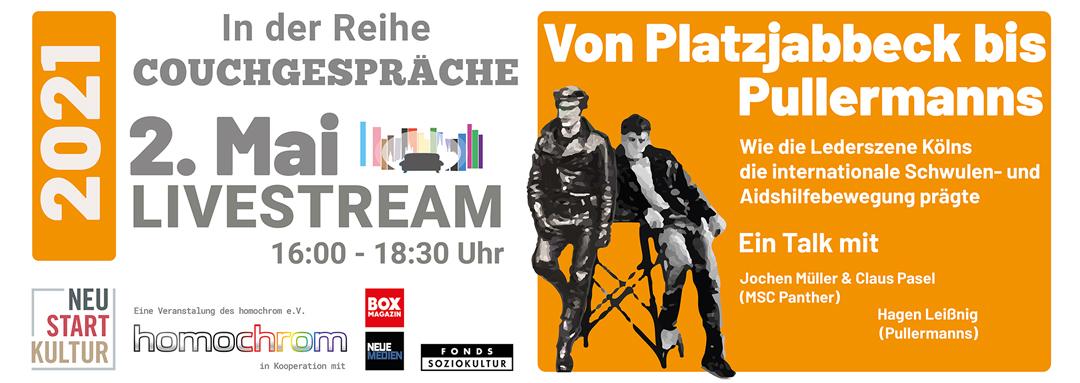 Couchgespräche Mai 2021 – Lederszene: Von Platzjabbeck bis Pullermanns
